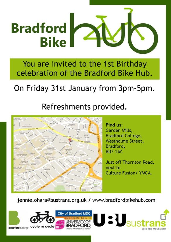 Bike Hub Birthday Invite